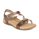 Aetrex Women's Jess Adjustable Quarter Strap Sandal - Bronze - SE214W - Angle