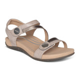 Aetrex Women's Jess Adjustable Quarter Strap Sandal - Smoke - SE216W - Main