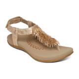 Aetrex Women's Portia Fringe Sandal - Blush - SE398W - Angle