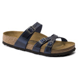 Birkenstock Franca Oiled Leather - Blue (Regular Width) - Angle