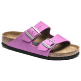 Birkenstock Arizona Soft Footbed - Purple Orchid Nubuck (Regular Width) - Angle