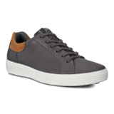 ECCO Men's Soft 7 Street Sneaker - Moonless / Amber / Teardrop - Angle
