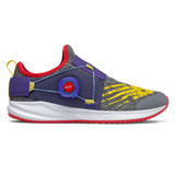 New Balance Kid's Fuel Core Reveal Boa - Castlerock with Vision Blue - GKRVLLG2 - Profile
