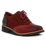 Spring Step Women's Muggiasti Oxford - Red Multi - MUGGIASTI/RED - Angle