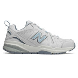 New Balance Women's 608v5 Cross Training - White with Light Blue - WX608WB5 - Profile