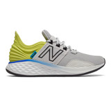 New Balance Kid's Fresh Foam Roav - Light Aluminum / Sulphur Yellow / Black - Profile Pic