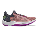 New Balance Women's Fuel Cell Rebel - Ginger Pink with White & Black - Profile