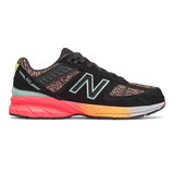 New Balance Grade School 990v5 - Black / Tahitian Pink - GC990KP5 - Profle