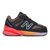 New Balance Toddler 990v5 - Black with Tahitian Pink - Profile Pic 1