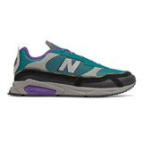 New Balance Men's X-Racer - Team Teal with Black & Prism Purple - Profile
