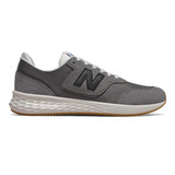 New Balance Men's Fresh Foam X-70 - Castlerock with Black - Profile