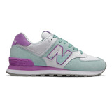 New Balance 574 Split Sail Women's Classics - Drizzle with Neo Violet - Profile