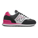 New Balance 574 Split Sail Women's Classics - Black with Pink - Profile