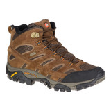 Merrell Men's Moab 2 Mid Waterproof Wide - Earth - Profile