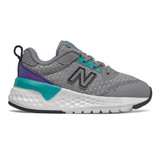 New Balance Toddler 515 Sport v2 - Gunmetal with Prism - Profile