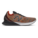 New Balance Men's FuelCell Echo - Neo Flame with Sulphur Yellow & Vision Blue - Profile