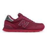 New Balance Men's 515 Classics - Garnet with Neo Crimson - Profile