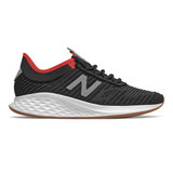 New Balance Men's Fresh Foam Roav Fusion - Black with Steel - Profile Pic