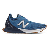New Balance Women's Fuel Cell Echo Big League Chew - Mako Blue/ Natural Indigo/ White  - Profile Pic