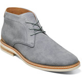 Florsheim Men's Plain Toe Chukka Boot - Gray Suede  - Profile Pic