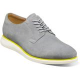 Florsheim Men's Fuel 5-Eye Plain Toe Oxford - Gray Suede - 14270-061 - Angle