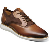 Florsheim Men's Fuel Knit Plain Toe Oxford - Scotch - Angle
