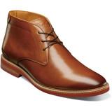 Florsheim Men's Highland Plain Toe Chukka Boot - Cognac - Profile Pic