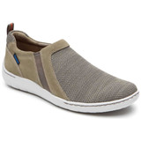 Dunham Men's Fitsmart Double Gore Slip-On - Taupe - Angle
