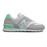 New Balance 574 Split Sail Women's Classics - Summer Fog with Neo Mint - Profile