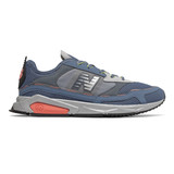 New Balance Men's X-Racer - Deep Porcelain Blue with Natural Peach - Profile Pic