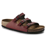Birkenstock Women's Florida Fresh - Pull Up Bordeaux Birko-Flor(Narrow Width) - Angle