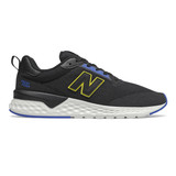 New Balance Men's Fresh Foam 515 Sport v2 - Black/Vivid Cobalt/Sulphur Yellow - Profile Pic