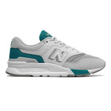 New Balance Women's 997H- Rain Cloud / Team Teal- Profile Pic