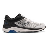 New Balance Men's 847v4 Walking - Arctic Fox with Black & Team Royal - MW847LW4 - Profile