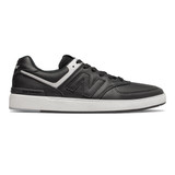 New Balance Men's All Coast AM574 - Black / White - AM574PBG - Profile