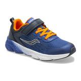 Saucony Big Kids Wind A / C Sneaker - Navy - Angle