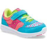 Saucony Toddler Baby Jazz Lite - Turquoise / Multi Print - Angle