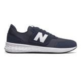 New Balance Men's Fresh Foam X 70 - NB Navy/Munsell White - Profile Pic