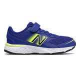 New Balance Kid's 680v5 (Youth) - Marine Blue with Lemon Slush and Black - Profile