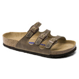Birkenstock Florida Soft Footbed - Tobacco Brown (Regular Width) - Angle