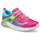 Saucony Kid's Flash Glow A/C Sneaker - Pink Multi - Angle