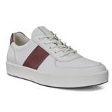 ECCO Men's Soft 8 Sneaker - White/Rust - Angle