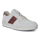 ECCO Men's Soft 8 Sneaker - White/Rust - Angle
