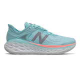 New Balance Women's Fresh Foam More v2 - Sea Salt with Newport Blue - WMORBP2 - Profile