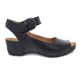 Dansko Women's Tiana - Black Burnished Calf - 1705-020200 - Profile