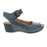 Dansko Women's Tiana - Teal Burnished Calf - 1705-191900 - Profile