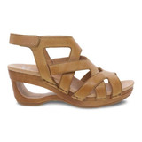 Dansko Women's Tempest Sandal - Tan Milled Burnished - 3415-371500 - Profile 1