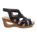 Dansko Women's Tempest Sandal - Black Milled Burnished - 3415-471500 - Profile1