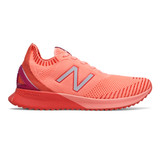 New Balance Women's FuelCell Echo - Ginger Pink with Toro Red & Plum - WFCECCP - Profile