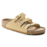 Birkenstock Women's Florida Fresh Vegan - Latte Cream (Narrow Width) - 1019435 - Angle